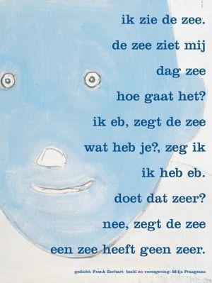 Aan de muur - Poëzieposters - poëzieposter met gedicht ik zie de zee van Frank Eerhart