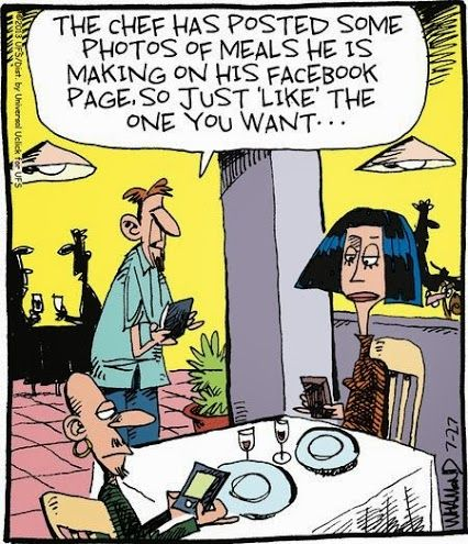 Facebook Humor | This is actually a great idea. Some restaurant somewhere should give it a try | Created by Bizarro Comics via Funny Technology – Comm…