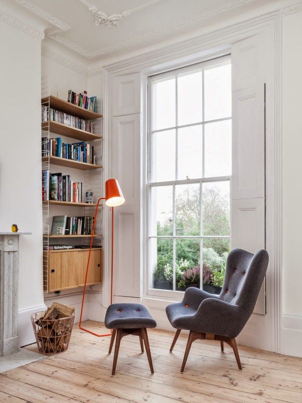 ChicDecó: | Beautiful period house in London • Reading corner