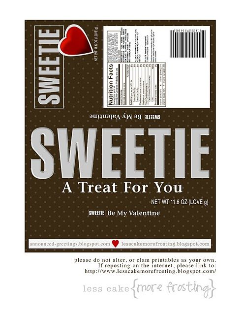 King size candy bar wrapper (Printable)