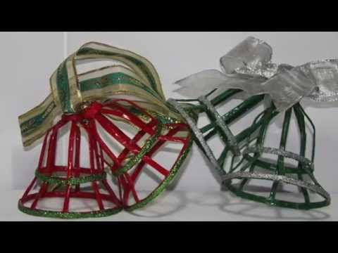 DIY. Como hacer Campanas de papel de periódico. How to Make paper bells. - YouTube