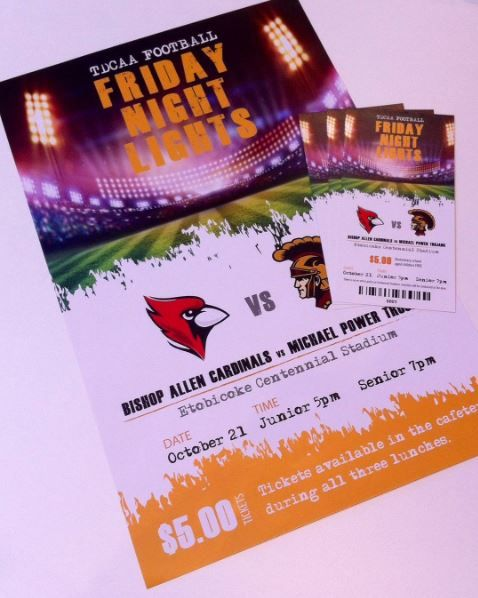 Are you ready for the game of the season!? Flyers? Big game tickets? Think of Katika for all your design and printing needs! #football #gamenight #toronto #canada #mississauga #graphicdesign #design #flyers #tickets #print #printdesign #smallbusiness #promotion #bishopallen #michaelpower #fridaynightlights