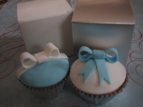 cupcake fondant idea for baby shower