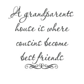 I Love my cousins, I cannot imagine life without them especially now that we can only talk about pulling the feather bed out of the closet in the blue room to sleep in front of the fireplace!