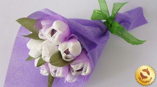Цветы из гофрированной бумаги главная
