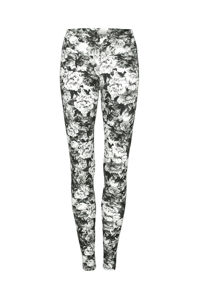 Monochrome Rose Higher Waisted Printed Yoga Legging - Full Length – Dharma Bums Yoga and Activewear
