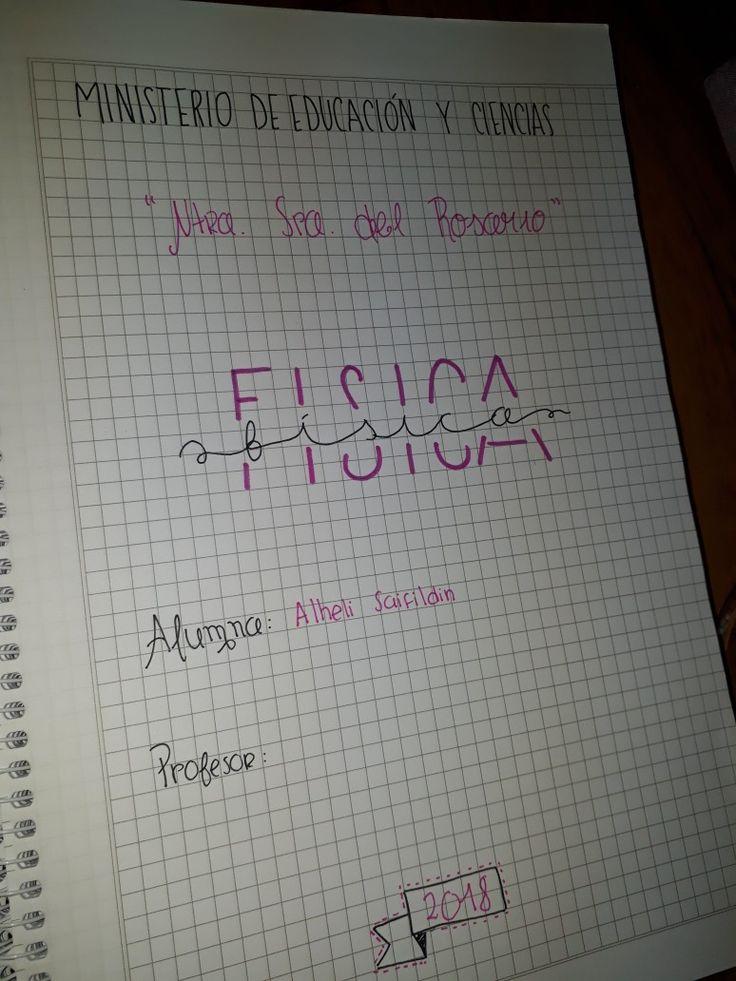 #notes #idea #notebook #cuadernos #física #caratula #work #lettering