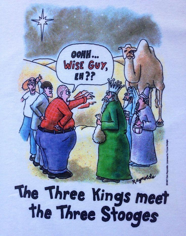 Three Stooges Meet Three Kings Dan Reynolds 1997 Vintage T