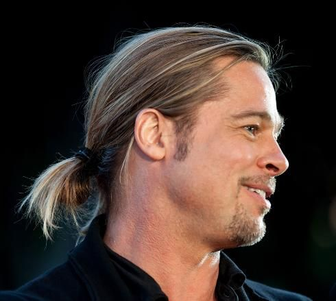 14 best men with ponytails images on pinterest ponytail how to brad pitts looped ponytail at world war z premiere modernsalon urmus Gallery