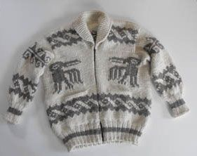 Authentic knit Cowichan Sweater from Sa-Cinn