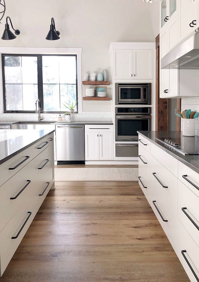The kitchen hardware is from Ikea BAGGANÄS Handle, black ...