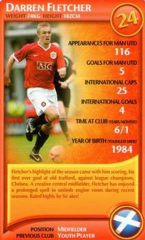 2007 Top Trumps Specials Manchester United #NNO5 Darren Fletcher Front