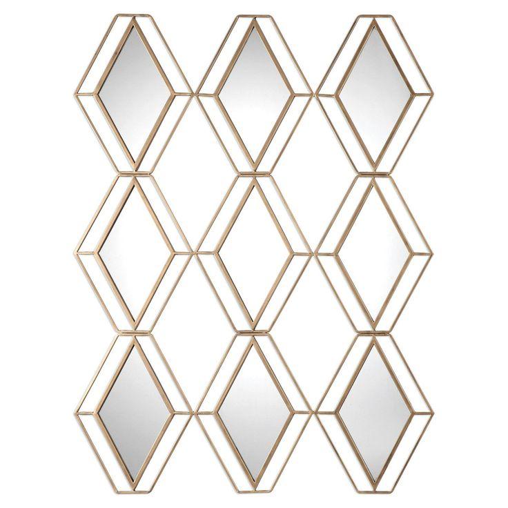 Uttermost Soren Diamond Gold Wall Mirror - 9184