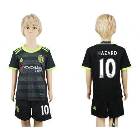 Chelsea Fotbollskläder Barn 16-17 Eden #Hazard 10 Bortatröja Kortärmad,248,15KR,shirtshopservice@gmail.com