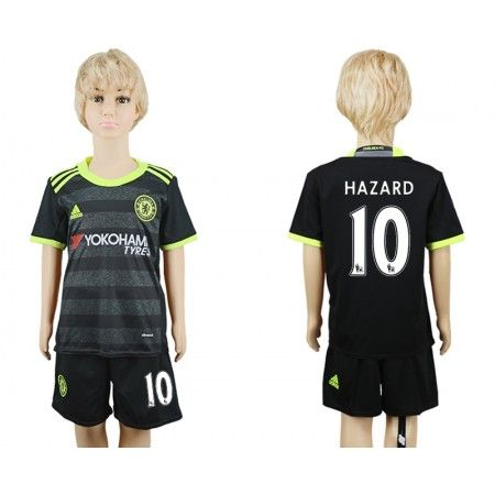 Chelsea Trøje Børn 16-17 Eden #Hazard 10 Udebanetrøje Kort ærmer,199,62KR,shirtshopservice@gmail.com