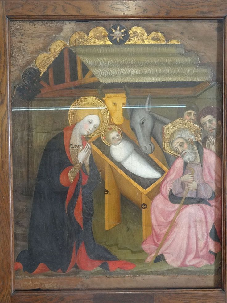 Maricel музей (внутри). Рождество ( Педро Серра) CA 1400 год. Церковь Sant Pere de Cubells.
