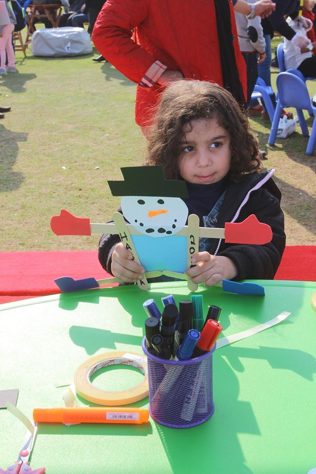 Let your kids get creative with Inspired Minds Education #emaarmisr #uptowncairo #christmas #event