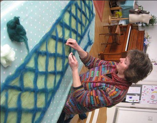 Katie Jackson Designs - Nuno felting - how it's done
