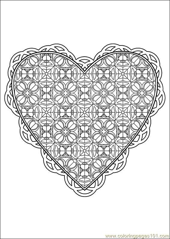 valentine coloring pages advanced - photo #29