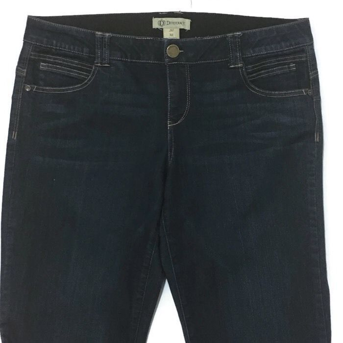 Democracy Ab Technology Jeans Jeggings 20 Plus 41W Booty Lift Slimming Dark Wash  | eBay