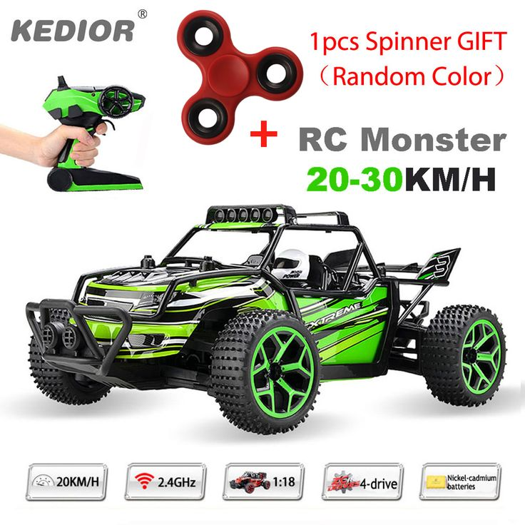 1:18 Highspeed Remote Control Car 20KM/H Speed RC Drift Car 2.4G 4wd off-road buggy with Lipo battery add a spinner random color //Price: $1389.69     #onlineshopping