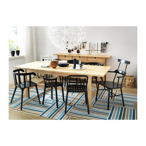 NORDEN Extendable table IKEA Extendable dining table with 1 extra leaf seats 8-10; makes it possible to adjust the table size according to need.