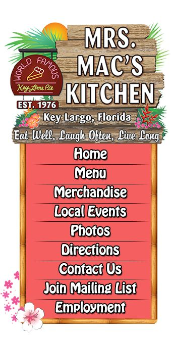 Mrs. Mac's Kitchen | American Seafood Restaurant | Key Largo, FL 33037