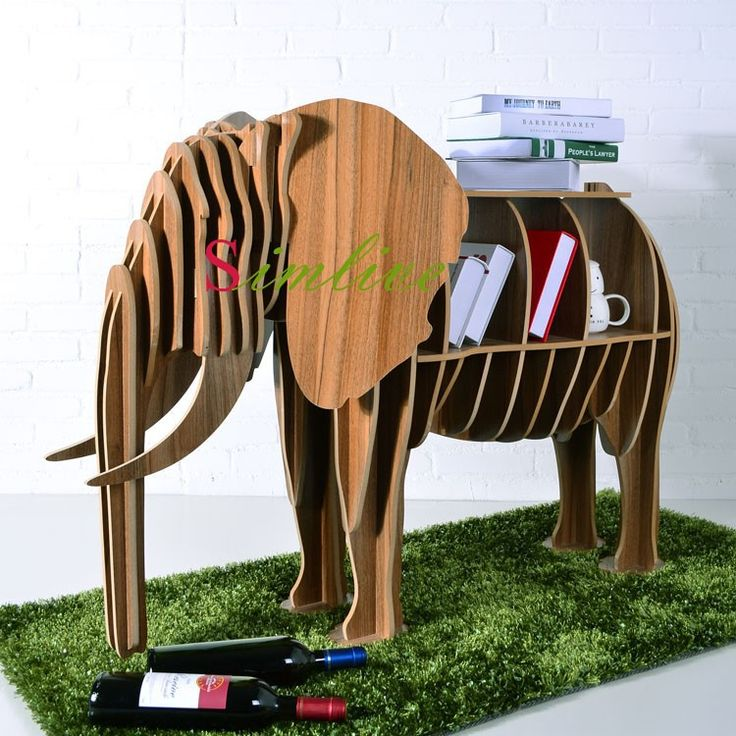 Wood Elephant rack for decor,fashion modern living room decoration,wooden crafts,novelty items,elephant table,DIY bookselfs,mdf-in Crafts fr...