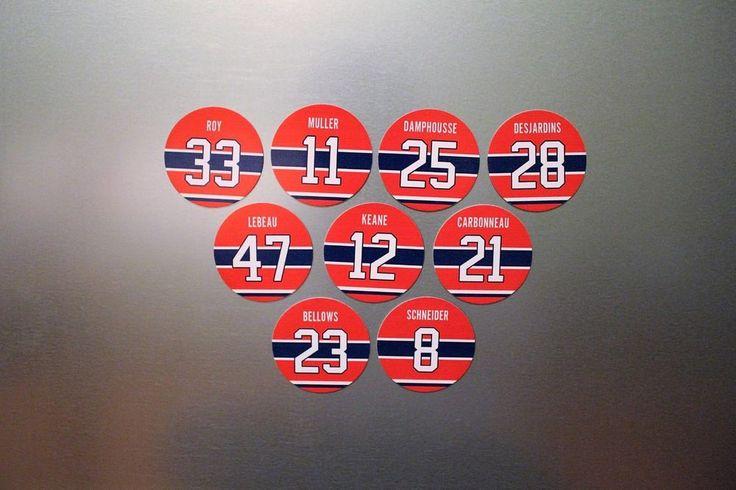 Montreal Canadiens 9 Magnet Set 1993 Cup Team: Roy, Carbonneau, Keane, Muller  #MontrealCanadiens