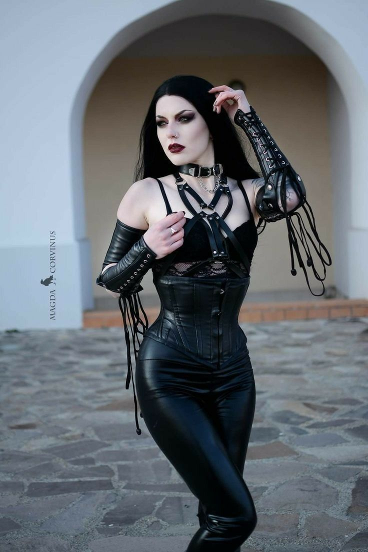 Goth leather porn #8