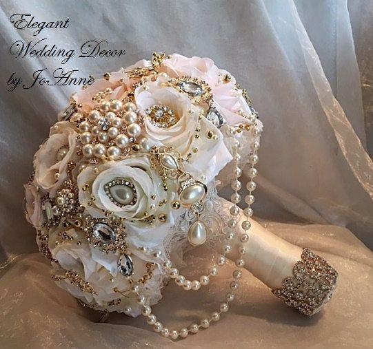 GATSBY STYLE BOUQUET Gatsby Brooch Bouquet by Elegantweddingdecor