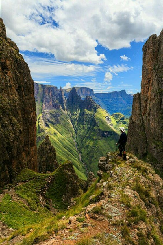 The Drankensberg mountains in South Africa.