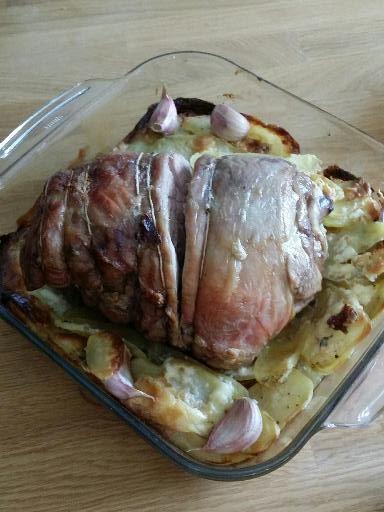 Photo 4 de recette Gigot d'agneau aux pommes boulangères - Marmiton