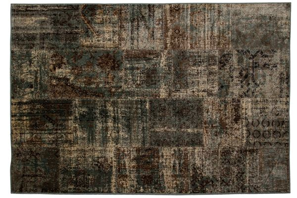 Casa Uno Viscose Home Carpet Area Rug Matrix Patch Teal - NEW