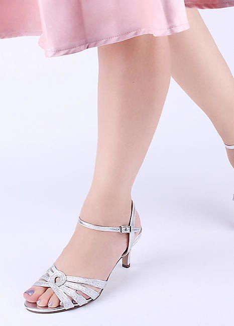 6d69b9d1edcb Paradox London Pink  Merle  Mid Heel Glitter Sandals in 2018 ...