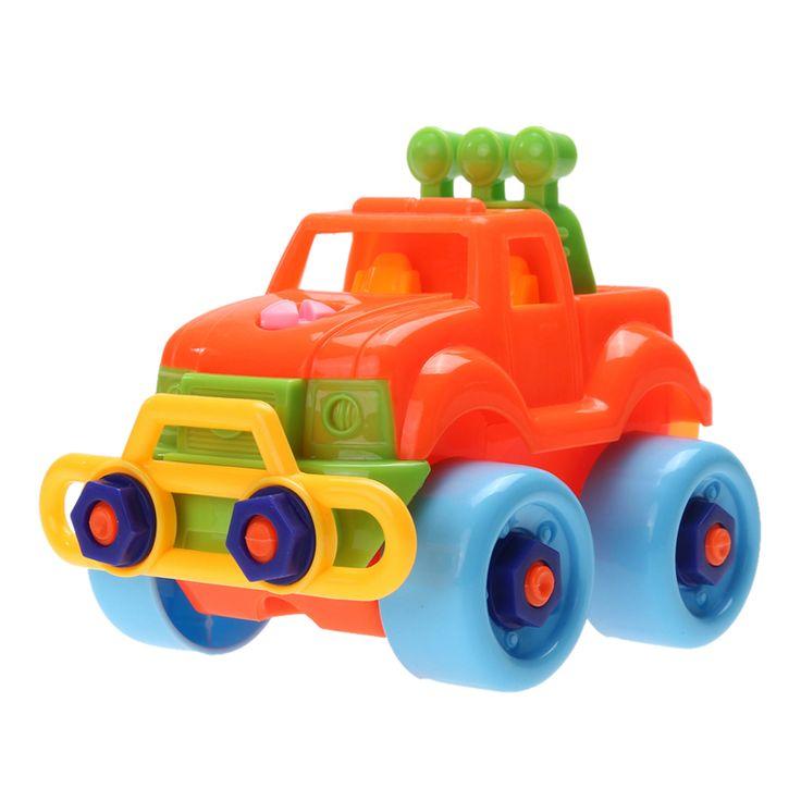 Малолитражного Автомобиля Игрушки Поп-Рождественский Подарок Дети Детские Мальчики Разборка Сборка Пластиковые ABS Классический DIY Автомобиль Игрушки для Детей