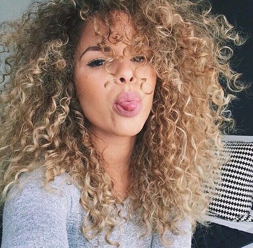 Pleasant 1000 Ideas About Blonde Curly Hair On Pinterest Curly Hair Short Hairstyles For Black Women Fulllsitofus