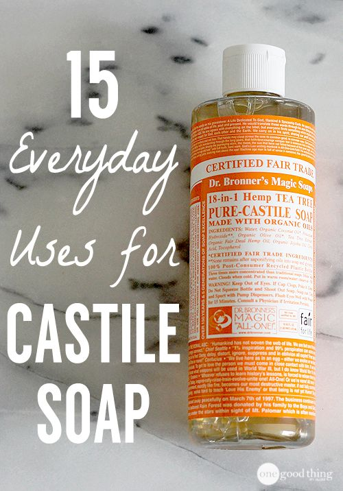 Foaming hand wash and all purpose spray using Castile soap and essential oils