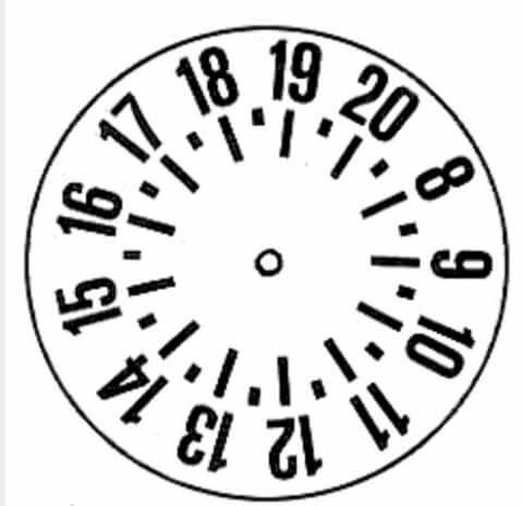 Disco orario da stampare