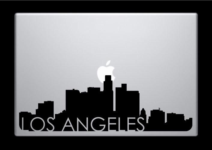 Los angeles skyline macbook decal with writing macbook sticker laptop sticker 3