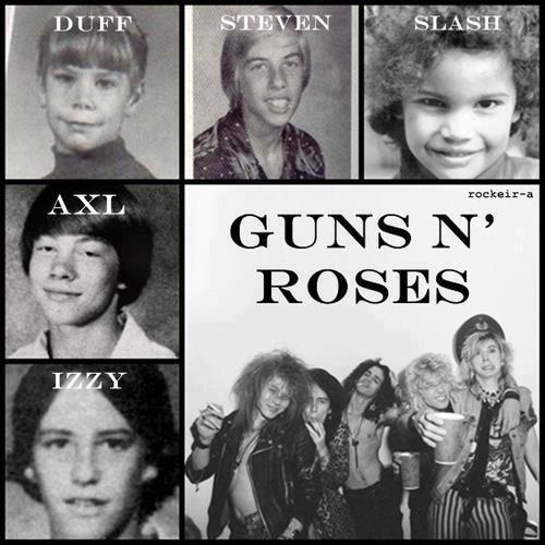 future rockers..Guns n Roses - omg slash was so cute!