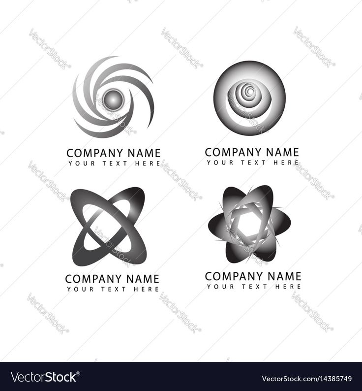 Abstract flower and circle logo symbols and icons Vector Image by NiMa_Design