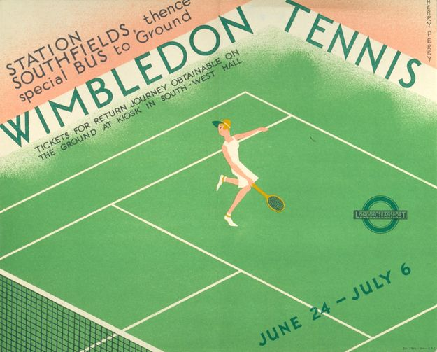 1935: 'Wimbledon tennis' | 20 Gorgeous Vintage Posters For The London Underground