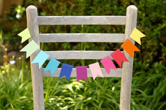 Guirlande de l'arc-en-ciel décorations par PGCraftCottage sur Etsy