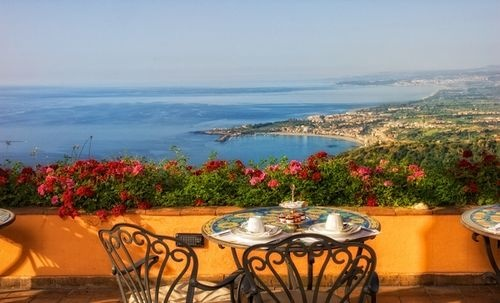 Beautiful place to stay.  Taormina located on the island of Sicily.