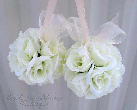 Hey, I found this really awesome Etsy listing at https://www.etsy.com/listing/118435222/wedding-flower-balls-pomander-ivory