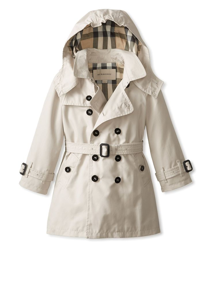 burberry kid 39 s hooded trench coat at myhabit girls fashion pinterest coats trench coats. Black Bedroom Furniture Sets. Home Design Ideas