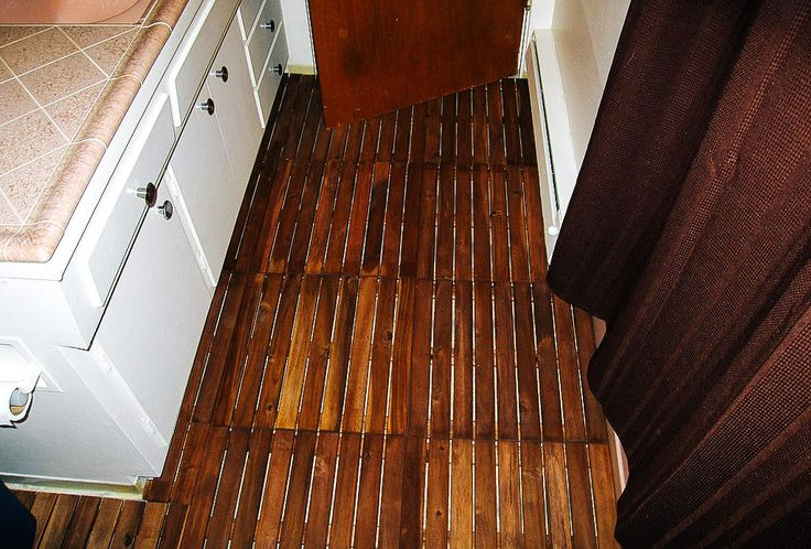 Cover Ugly Linoleum With Wood Deck Tiles Price 100