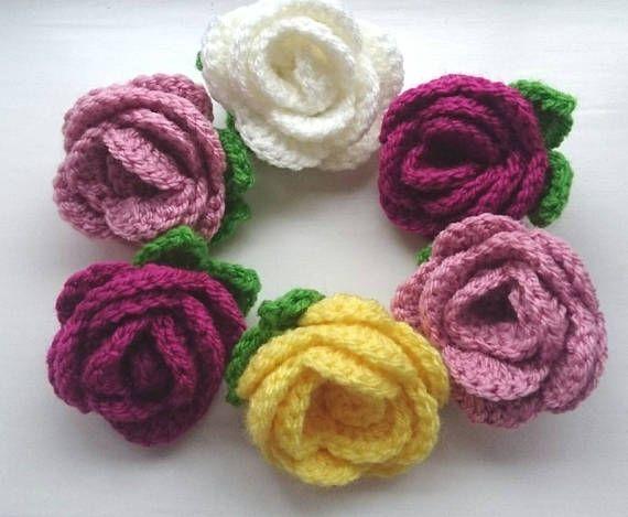 Broche de la flor color de rosa ojal accesorio de la flor de