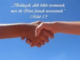 Béke  Mt 5,9